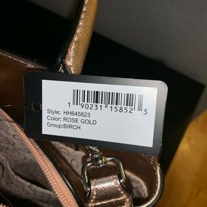Guess Bags - Rose Gold Guess Satchel with Removable Strap